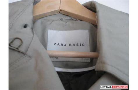 Best Seller Fashion Zara Basic Murah barely used zara basic trench coat vancouver123 list4all