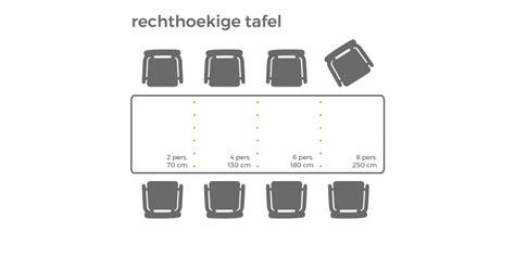 afmetingen eettafel 6 stoelen affordable de ideale afmetingen van een eettafel op basis