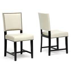 White Leather Dining Room Chairs by White Faux Leather Dining Chairs Decor Ideasdecor Ideas