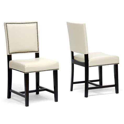a affordable furniture white leather dining room chairs