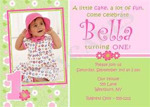 1st birthday invitation photo card diy print by