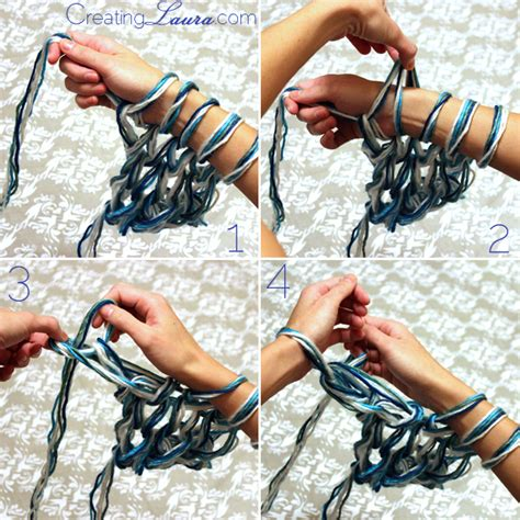 what is arm knitting creating the triplet shawl an arm knitting pattern