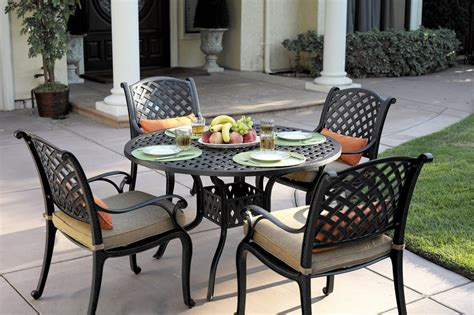 Darlee Nassau 5pc Cast Aluminum Outdoor Patio Dining Set w