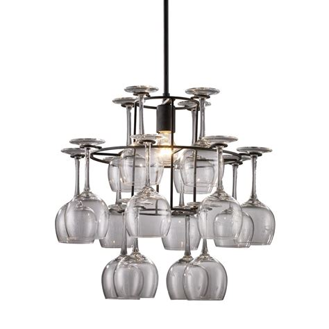 Glass Chandelier Lighting Wine Glass Chandelier 14040 1 Destination Lighting