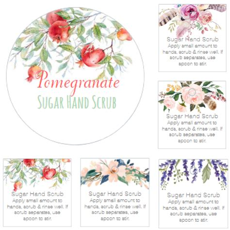 New Sugar Hand Scrub Printable Labels And  Ee  Gift Ee   Tags The