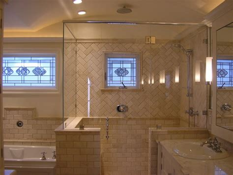 tile pattern layout shower what is the height on the knee wall