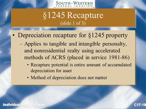 section 1245 recapture exle individual income taxes copyright 169 2009 cengage learning