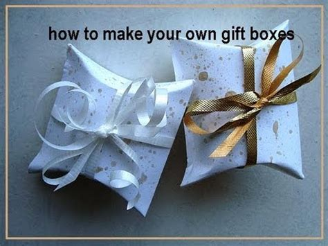 How To Make A Present Out Of Paper - how to make your own gift boxes how to diy paper box