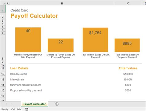 Excel Formula To Calculate Credit Card Payoff Date raj excel