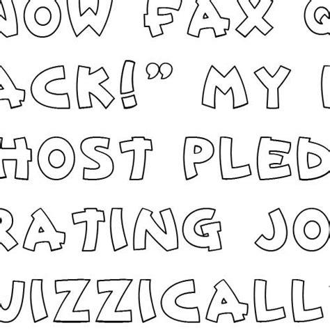doodle print font free doodle caps block font