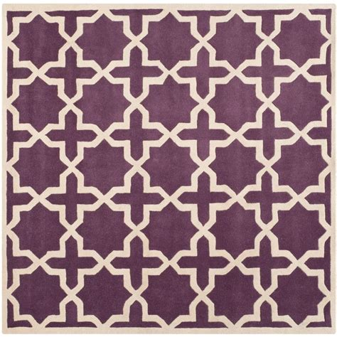 7 X 7 Square Area Rugs by Safavieh Chatham Purple Ivory 7 Ft X 7 Ft Square Area