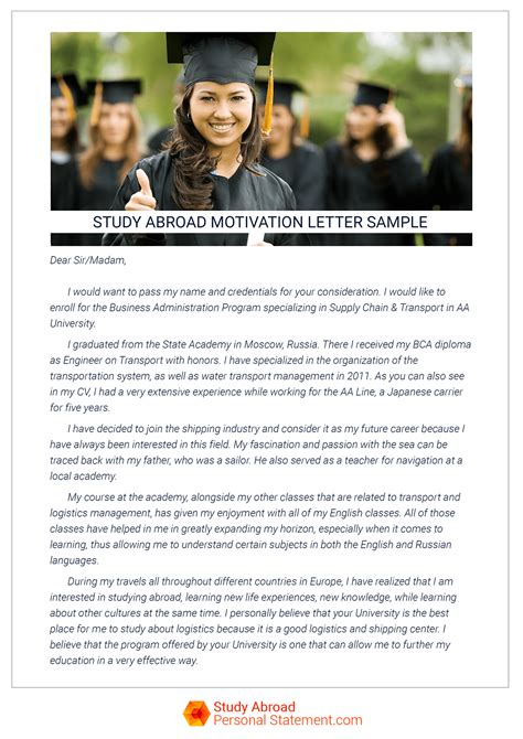 Motivation Letter Why I Want To Study Study Abroad Motivation Letter Sle On Behance