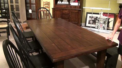 attic heirlooms rustic oak extension leg dining table by