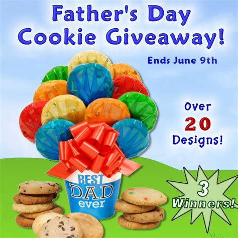 Giveaway Cookies - father s day cookie giveaway 3 lucky winners building our story