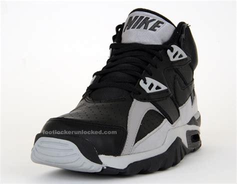 bo jackson basketball shoes nike air trainer sc black grey 09