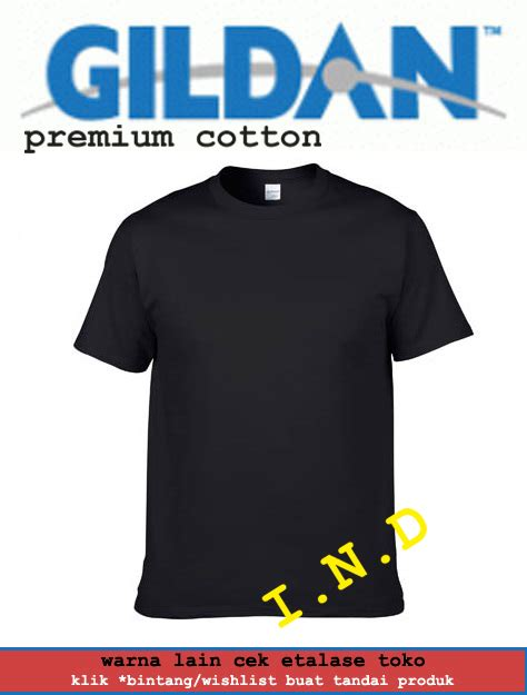 Kaos Polos Premium Hitam Kopi jual kaos polos gildan hitam premium cotton i n d