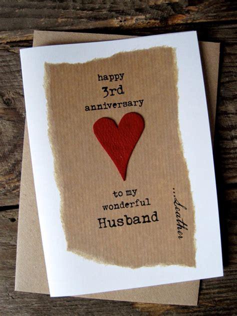 Leather Wedding Anniversary Card by 3rd Wedding Anniversary Card Leather Traditional Symbol