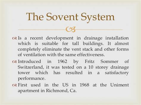 Sovent Plumbing System by 5 Traps Sovent