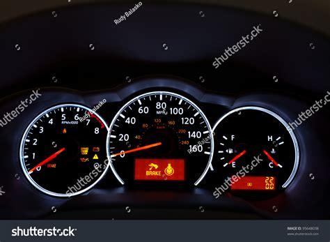 for car dashboard car dashboard image illuminated car stock photo