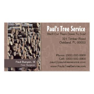 Tree Cutting Business Cards