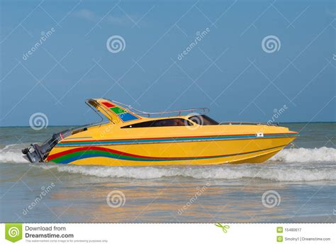 speed boat license yellow speedboat royalty free stock photography image