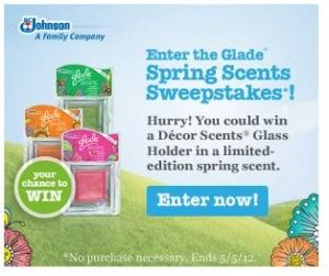 Glade Sweepstakes - glade sweepstakes 5000 decor scents glass holders kids activities saving money
