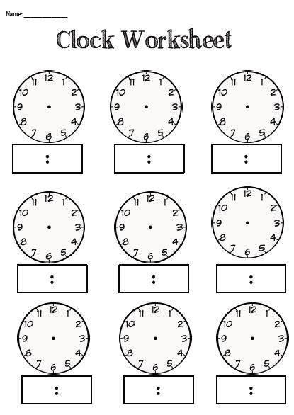 clock worksheet category page 2 worksheeto com