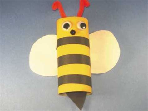 How To Make A Paper Bee - how to make an toilet paper bumble bee ep