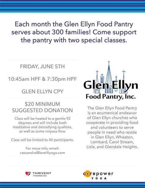 Glen Ellyn Food Pantry by Corepower Supports Gefp Glen Ellyn Food Pantry