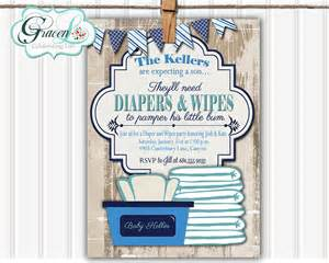 baby shower invitation diaper and wipes baby shower