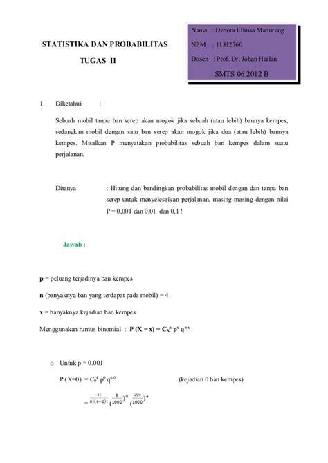 Statistika Deskriptif Dan Probabilitas 1 Statistika Dan Probabilitas Tugas 2