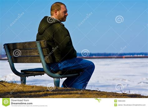 lonely man on bench sad man on a bench stock image image of lonely adult