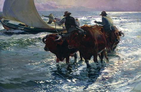 The Bull From The Sea bulls in the sea 1903 joaqu 237 n sorolla wikiart org