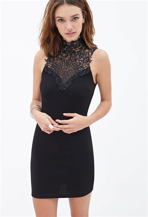 Forever 21 Halter Dress A La Alaina From American Idol forever 21 crochet halter dress in black lyst