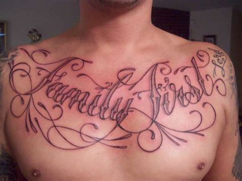 family first tattoo family on chest with wings www pixshark