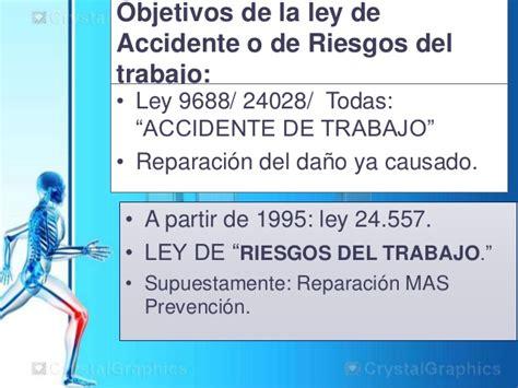 ley de riesgos de trabajo n 24557 monografiascom el cuerpo del trabajador y su memoria