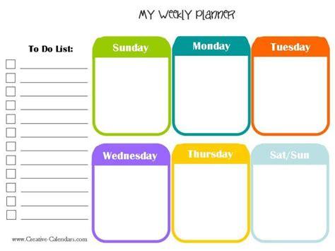 Get Calendar Weekly Time Schedule Template Pdf Excel Word Get