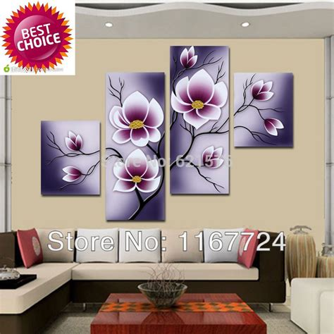 Hiasan Dinding Wall Decor 20x20 painted modern wall picture living room home decor abstract purplish grey purple