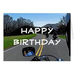 Motorcycle Biker Ride Happy Birthday Card 2   Zazzle