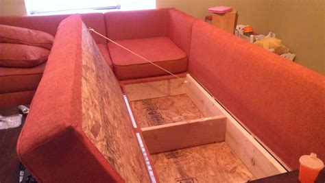 home made couch diy storage sectional free plans also from ana white