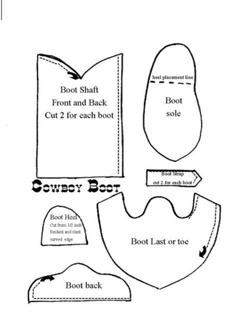 revised pattern of english qp for ix x grown up cowboy boot this is the pattern for the revised