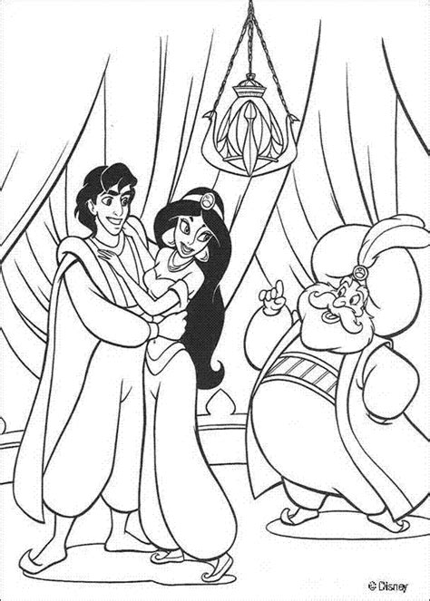 disney cartoon coloring pages quot princess jasmine and aladdin quot