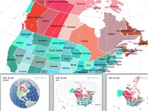 united states and canada map powerpoint canada and united states map for powerpoint
