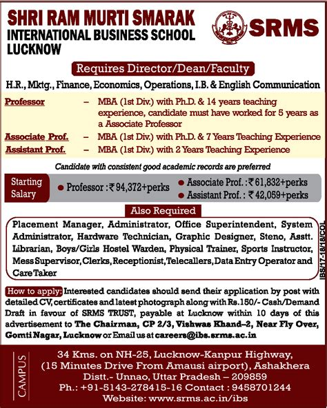 Careers With Mba International Business by Receptionist Unnao Office Administration