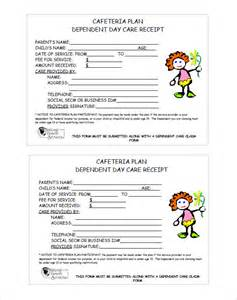 free childcare templates daycare receipt template 13 free sle exle