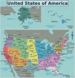 united states of american map maps of the usa the united states of america map