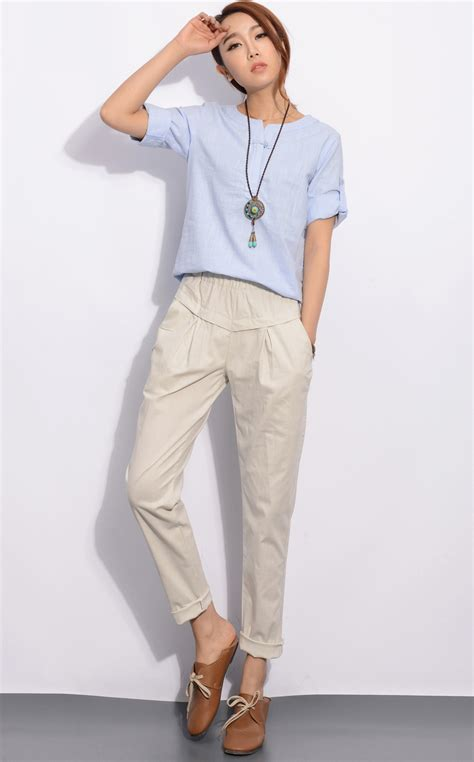 womens outfits summer on pinterest linen pants women outfit with original photos in singapore