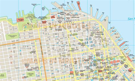 san francisco map vector free more maps print this map of the isles the
