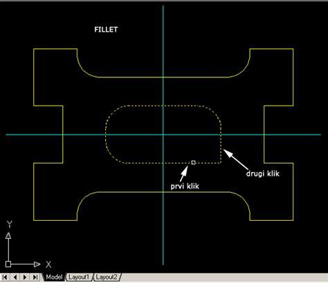 autocad 2007 tutorial za pocetnike autocad 2007 kako zaobliti vrh objekta crteža u autocadu