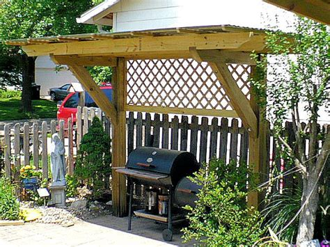 Outdoor Shelter Plans Grill Pergola Backyard Ideas Pinterest